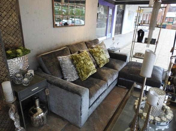 bespoke velvet sofa