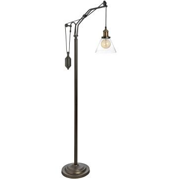 HUDSON BRASS FLOOR LAMP