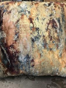 burgundy velvet gold cushion