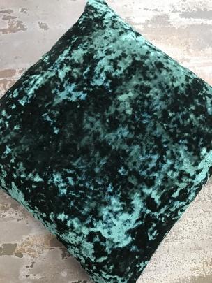 velvet jade cushion
