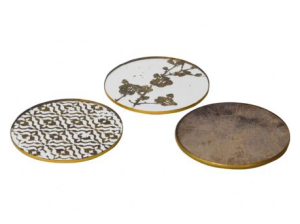 Set of Antique Mirror Coasters £24