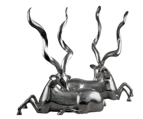 Set of Nickel Deer £180