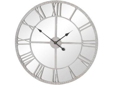 Silver Mirrored Clock £139