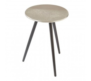 Silver Textured Side Table £149