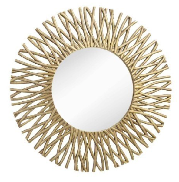 Old Gold Twig Mirror