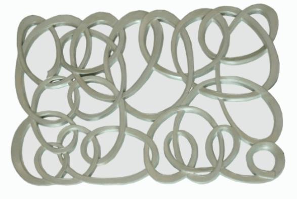 Silver Scribble Mirror